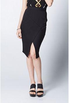 Shop for Spliced Asymmetric Skirt - Dressy - Max Shop
