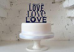 It Must Be Love, Love, Love' Wedding Cake Topper