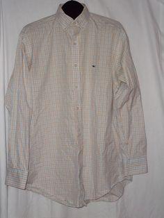 Vineyard Vines Long Sleeve White Blue Black Orange Button Front Shirt Size: L #vineyardvines #ButtonFront