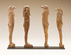 Four Sons of Horus. Egypt, 26th Dynasty, ca. 664-525 B.C.