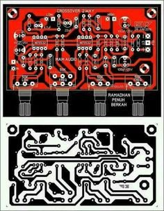 icu ~ PCB Layout Design Crossover 2 Way in 2019 Electronics Projects, Hobby Electronics, Electronic Schematics, Electronic Kits, Electronic Circuit, Subwoofer Box Design, Speaker Box Design, Crossover, Valve Amplifier