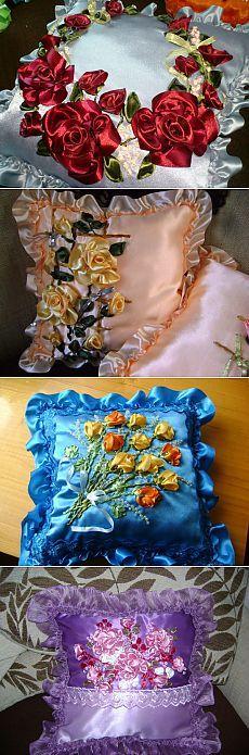 Подушки-подружки: МК роза и бутон .