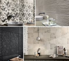 Maku by FAP Ceramiche is a perfect balance between austere look and cosiness, much sought after in residential areas. The textures of brick and natural stone are enhanced by the dizzying array of decorative pieces and mosaic tiles featuring exquisite graphic and handcrafted ceramic motives.