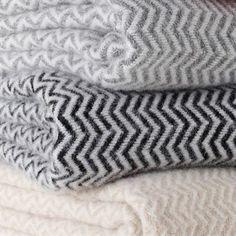 Chevron throw blanket from Scandinavian Design Center