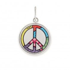 Peace Sign Art Infusion Necklace Charm