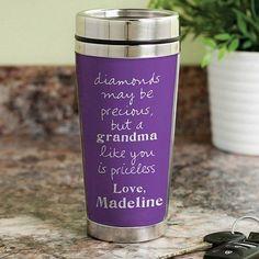 Personalized Sandra Magsamen Travel Mug For Grandma, Multicolor