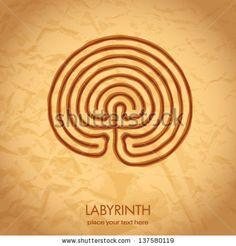 celtic labyrinth - stock vector