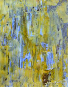 Acrylic Abstract Art Painting Yellow, White, Brown, Grey - Modern, Contemporary, Original 11 x 14. $14.00, via Etsy.