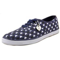 Keds Taylor Swift Champion Hearts Women Sneakers ($22) ❤ liked on Polyvore featuring shoes, sneakers, blue, blue shoes, blue heart shoes, blue sneakers, synthetic shoes and keds shoes