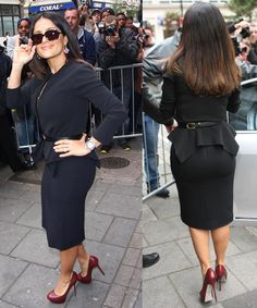 Salma Hayek is an old pro at looking flawless on the red carpet. So, it didn't surprise us when we saw her greeting fans and having a ball outside of BBC ...