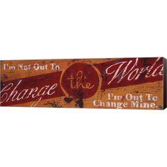Rodney White 'Change The World' Art