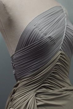 Sewing Techniques Couture Fabric Manipulation for Fashion Design - fine pleat constructions with draping on the stand - dressmaking; Draping Techniques, Textiles Techniques, Fashion Design Inspiration, Mode Inspiration, Pattern Cutting, Pattern Making, Textile Manipulation, Fabric Manipulation Techniques, Fabric Manipulation Tutorial