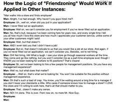 The logic of the friendzone.