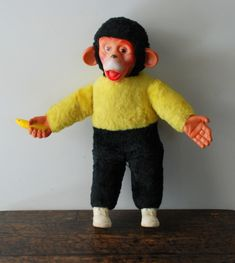 Image detail for -Vintage 1960's Zippy 16 Inch Plush Monkey Toy by AntiqueLane