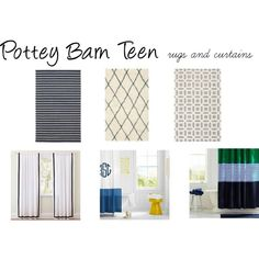 """""""PBTeen Rugs and Curtains"""" by tooheyi on Polyvore"""