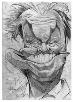 nicholson caricature