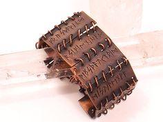 Copper Runic Bracelet, rune bracelet, rune jewelry, runes