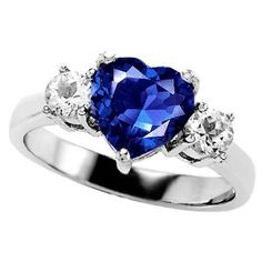 alternative engagement rings heart sapphire