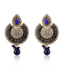 Buy Blue Designer Earrings danglers-drop online