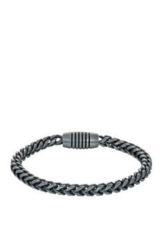 Belk & Co. Stainless Steel Franco Bracelet. Designed with an 8.5-inch chain band, this sleek stainless steel Franco bracelet by Belk & Co. features a modern magnetic clasp. Dkny Mens, Stainless Steel, Band, Chain, Bracelets, Modern, Jewelry, Products, Sash