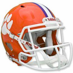 Clemson Tigers Official Riddell Speed ''On The Field'' Football Helmet #clemson