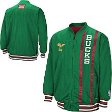 Red & green stripes, vertical script and Bango! You can't ask for a better #Bucks jacket.