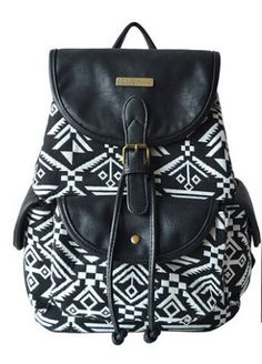 a10e9eb2f4 Folk Style Totem Geometry Backpack Student Book Bag