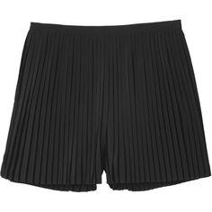 Monki Tabita trouser/skirt (1,800 INR) ❤ liked on Polyvore featuring skirts, shorts, bottoms, monki, black magic, black pleated skirt, high-waisted skirts, high waisted pleated skirt and black skirt