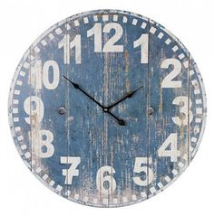 38fc17d4774 Large French Blue Wall Clock