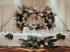 WedLuxe Magazine Vintage Tropical Quinceanera Decorations, Wedding Decorations, Table Decorations, Wedding Ceremony, Reception, Wedding Inspiration, Wedding Ideas, Oil Painters, Flower Backdrop