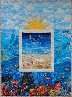 Beach Scene Quilt Pattern - Package. $27.00, via Etsy.