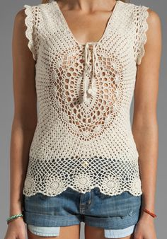 LISA MAREE First in Line Crochet Top in Cream - Lisa Maree