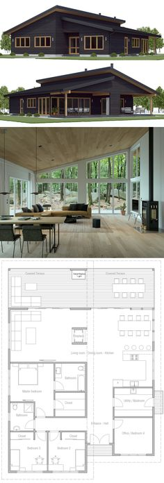 Tiny House Plans 324751823130518364 - Small House Plan, Small House Designs Source by carolineprd House Layout Plans, New House Plans, Dream House Plans, House Layouts, Small Modern House Plans, Modern Small House Design, Cottage Plan, Cottage House, Tiny House