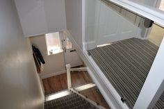 Glass stair balustrade in St Albans - After Glass Stair Balustrade, Stair Railing, Tv Wall Design, House Design, Staircase Design, Staircase Ideas, Glass Stairs, Painted Stairs, Glass Floor