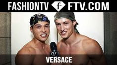 Versace Show Backstage Spring/Summer 2016 | Milan Collections: Men | Fas...
