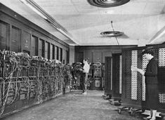 The first computer ever made: the US-built ENIAC (Electronic Numerical Integrator and Computer). It combined, for the first time, the high speed of electronics with the ability to be programmed for many complex problems. It could add or subtract 5000 times a second, a thousand times faster than any other machine.