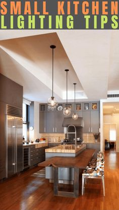 Aside from the aesthetic purpose, lighting plays important role in the kitchen. It would be the guide to see which way to move to stove area, the storage area, and so on. A kitchen without proper ligh Small Kitchen Lighting, Kitchen Small, Kitchen Ideas, Small Living Rooms, Light Decorations, Tips, Room Ideas, Furniture, Home Decor
