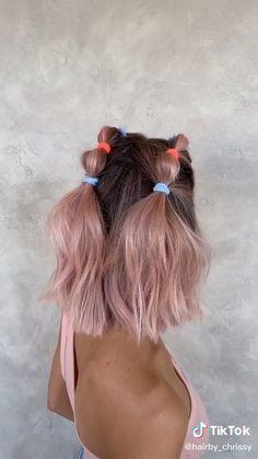 Hair Up Styles, Medium Hair Styles, Hair Medium, Medium Brown, Bubble Ponytail, Ponytail Easy, Aesthetic Hair, Blonde Aesthetic, Aesthetic Light