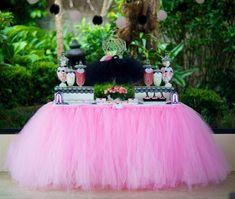 Como fazer Saia de tule para toalha de mesa – Passo a passo | Inspire sua festa