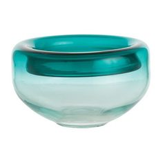 Sheer Blue Glass Bowl