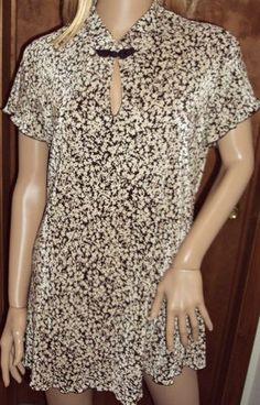 Women's Size 12 Mini Dress Accordion Pleats Tunic Blouse USA Connected Apparel