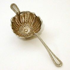 Antique Gorham Silverplate Tea Strainer Poppy Blossom Empire Pattern
