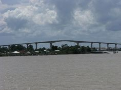 The Jules Wijdenbosch Bridge over the Suriname River near Paramaribo.