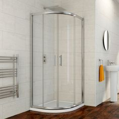 Hydrolux 900mm x 760mm LH Offset Quadrant Shower Enclosure With Tray