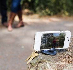 #iphone gadgets on #pinterest A keychain tripod you can't leave home without.