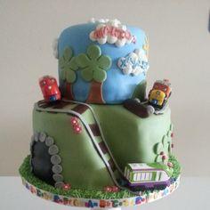 Chuggington birthday cake