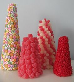 Kids could work on these!  Candy Topiaries