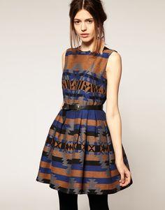 ASOS Aztec print dress. $130.95