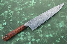 Chef's Knife (Gyuto) with Amboyna Burl and Chevron Damascus (10 in.)