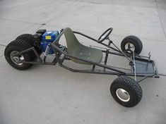 Go Kart Plans and Blueprints for SpiderCarts' Scorpion Three Wheeled Go Kart
